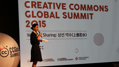 "Session on sharing city under the title of ""Sharing City: City rediscovers the values of sharing"" at Creative Commons Global Summit 2015"