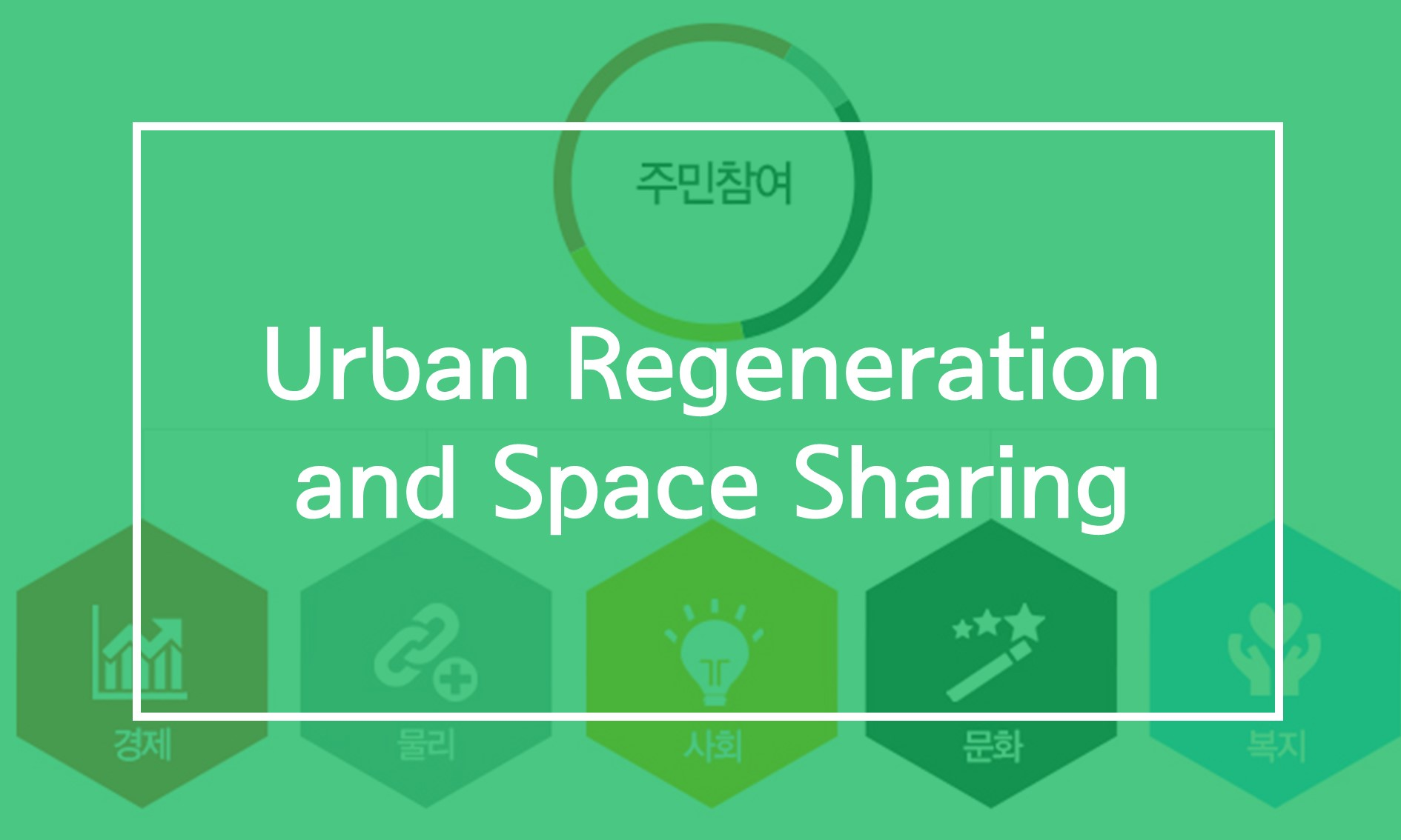 [Resources] Urban Regeneration and Space Sharing