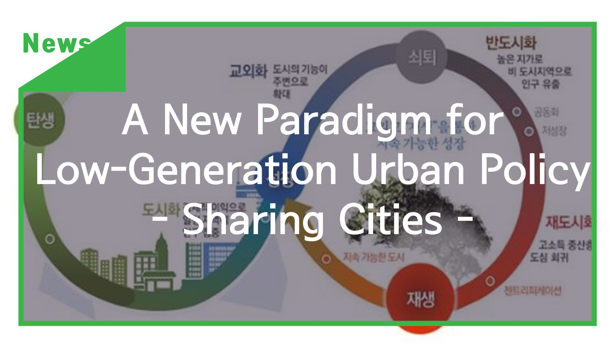 [News] A New Paradigm for Low-Generation Urban Policy - Sharing Cities